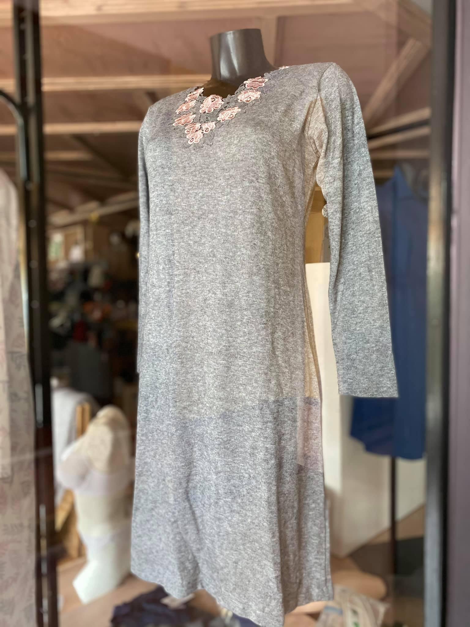 camicia donna grigio